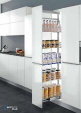 SOFT CLOSE PULL OUT PANTRY TALL KITCHEN UNIT WIRE BASKET 5 SHELF TRAY