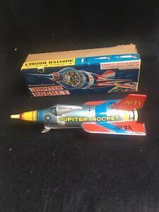 jupiter rocket-vintage tin toy w/box-masuya toy-1950's?
