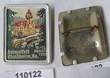 seltenes gesticktes Abzeichen Heimatfest Waldheim 1939 (110122)