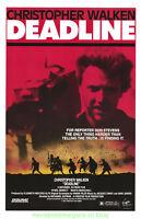 DEADLINE MOVIE POSTER Original 27x41 CHRISTOPHER WALKEN 1987