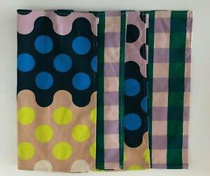 "Gorman linen blend napkin set of four ""roundabout"" print"