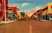 Sycamore Street Petersburg Virginia Litho Postcard PC353