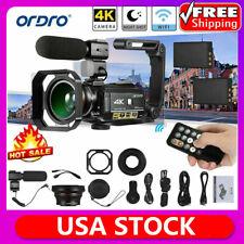 ORDRO AC3 4K WiFi Digital Video Camera Camcorder DV Recorder 24MP 30X Zoom U8F8