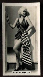 Tobacco Card, Carreras, FILM STARS, 2nd Series, 1938, Marion Martin, #42