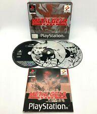 Metal Gear Solid Black Label ps1 Playstation (Komplett mit Anleitung] PAL UK VGC
