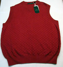 NWT $64 GREG NORMAN GOLF SWEATER VEST RED SMALL