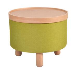 Couchtisch Beistelltisch Sitz Fuß Hocker Molde Tablett abnehmbar Grün 50cm