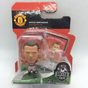 NEW OFFICIAL MANCHESTER UNITED FC WAYNE ROONEY SOCCERSTARZ FOOTBALL FIGURE