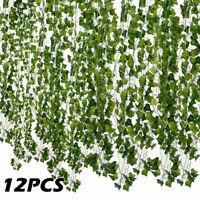 12x lierre artificiel vigne faux fleur de feuillage suspendu plante guirlande fr