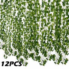 12pc lierre artificiel vigne faux fleur de feuillage suspendu plante guirlande
