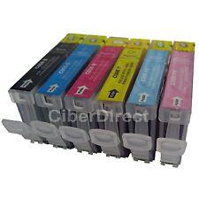 6 ink cartridges for CANON PIXMA iP6600D photo printer