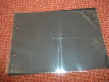 10 X 4 Pocket Plastic Page Sleeves Fits Glen & Other 2 Ring Cigarette Binders