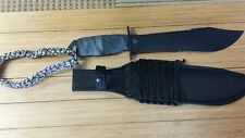 Big Bohica Bowie w/Sheath w/mcnett wrapped handle and paracord wrapped lanyard!