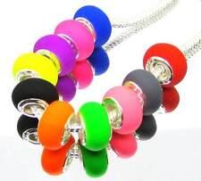 100 PCS Mix Jewelry DIY Charm acrylic-Plasticine beads fit Europea Bracelet