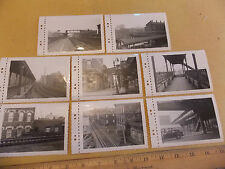8 1953 Myrtle Av El Clinton Hill Brooklyn NYC Subway 3 x 5 Original Photos!!!
