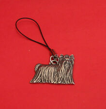 Yorkie Terrier Dog Pewter Mobile Phone USB Stick Charm Dad Mum Yorkie Gift