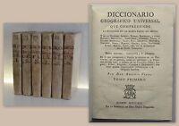 Vegas Diccionario Geográfico Universal 6 Bände 1795 Geografie Spanien Lexikon xz