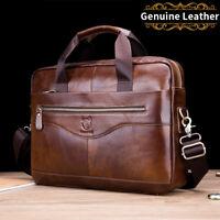 Men Genuine Leather Business Shoulder Bag Laptop Briefcase Messenger Handbag New