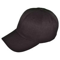 New Adult Baseball Cap Solid Black Hat Adjustable Women's Mens Unisex
