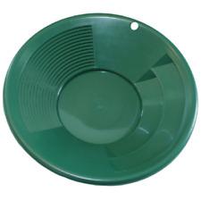 """10"""" Green Plastic Gold Pan Dual Riffle Nugget Mining Dredging River Panning"""