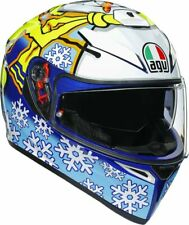 CASCO MOTO INTEGRALE AGV K3 SV WINTER TEST 16 REPLICA VALE ROSSI MAX VISION TG S