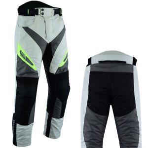 Men Motorbike Racing Trousers Motorcycle Waterproof Cordura Textile Pants Armour