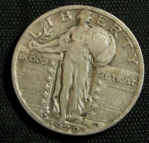 1929-D 25C Standing Liberty Silver Quarter  AN10