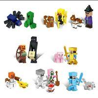 LOTE FIGURAS MINECRAFT - ESTILO LEGO BLOQUES CONTRUCCION COMPATIBLES