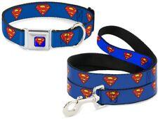 Buckle Down Seatbelt Dog Collar or Leash Superman Shield DC Comics - Made in USA