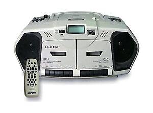 Califone 2395AV-02 Music Maker Plus Dual Cassette Recorder with CD, AM/FM, 6