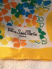 Green with butterfly Pierre Saint Martin Acetate scarf -Paris