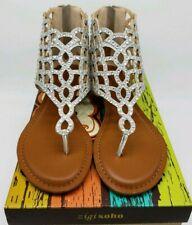 876728ec27f4 Zigi Soho Womens Gladiator Sandals Size 6.5 M Silver Melaa Wedge  Embellished NEW