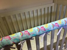 Reversible Baby Cot Crib Teething Rail Cover Protector ~  Unicorn