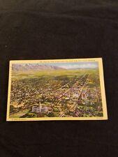East Air View of Salt Lake City Utah over Capital Building Old Postcard 1945 Pm