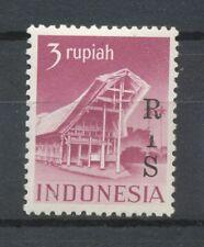Indonesië  22 (Zonnebloem 60) postfris I in RIS half weggevallen