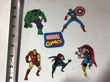 Marvel Comics Fabric Iron On Appliqués  - style#2 Black Widow Hulk Ironman