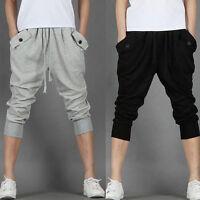 Fashion Mens Korean Sweat Shorts Sport Hip Hop Dance Harem Baggy Pants Trousers