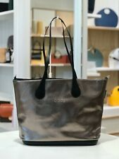 O bag Dahlia Vegan Leather Tote Bag - Metallic Pewter