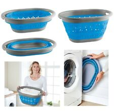 COLLAPSIBLE LAUNDRY BASKET WASHING CLOTHES BIN SPACE SAVING FOLDABLE STORAGE NEW