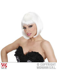 Ladies Deluxe White Bob Wig Sexy Secretary Flapper Lady Gaga Fancy Dress