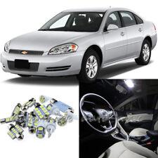 For 2006-2013 Chevrolet Impala Xenon White LED Interior Lights Kit 9 Pieces