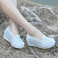 Womens Casual Athletic Shoes Thick Platform Hollow Running Walking Sneakers New