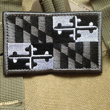 Maryland MD STATE FLAG US ARMY MORALE TACTICAL MILITARY 3D HOOK PATCH