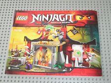 Notice Building instruction booklet LEGO NINJAGO Set 70756 Dojo Showdown