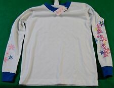 Daisy Girl Scouts Long Sleeve White Blue Shirt Size L/XL New With Tag Not Worn