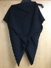 Issey Miyake Black Waffle Fabric Press Studded Structured Top *Size 2 Small IM87