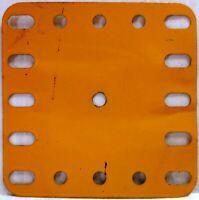 Meccano - 190 Flexible Plato 5 X 5 UK Amarillo - Original - Usado - Pocos Marcas
