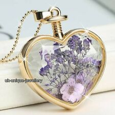 GIFTS FOR HER - Purple Flowers Gold Necklace Daughter Mother Women