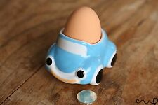 Sky Blue Hand-painted Cute Retro Style Ceramic Car Egg Cup Holder  Stoneware