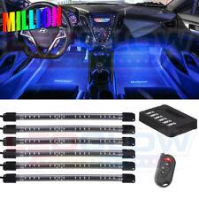 LEDGlow 6pc MILLION COLOR LED INTERIOR GLOW ACCENT CAR LIGHTS LU-IN-M-FLX-6.2